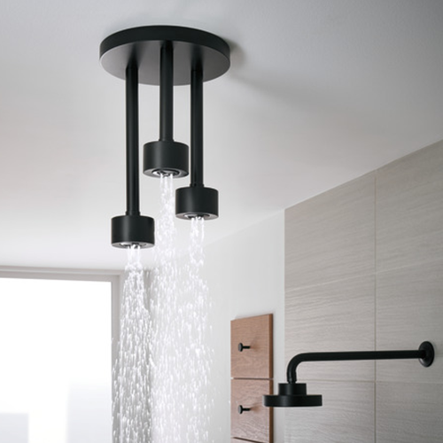 brizo contemporary raincan in black - the ultimate guide to luxury plumbing by the delight of design