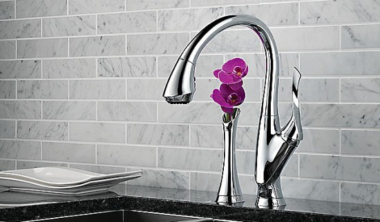 brizo single hole pull down kitchen faucet and bud vase in polished chrome - the ultimate guide to luxury plumbing by the delight of design