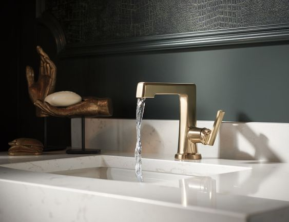 brizo single hole side control lav faucet in luxe gold - the ultimate guide to luxury plumbing by the delight of design