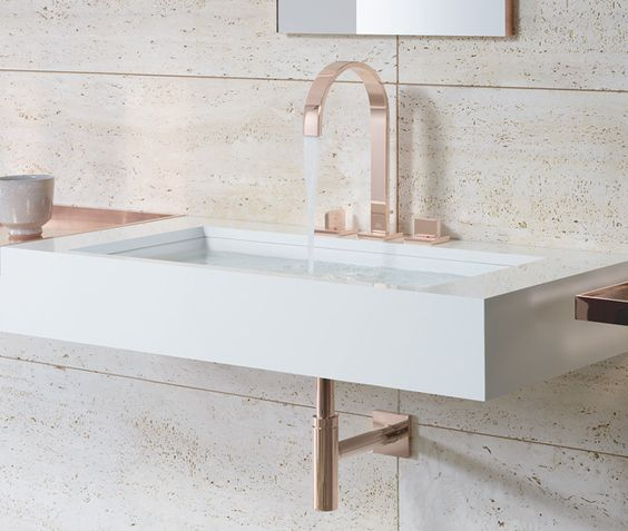dornbracht contemporary gooseneck widespread lav faucet with lever handles in rose gold - the ultimate guide to luxury plumbing by the delight of design