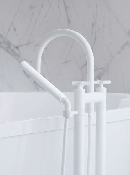 dornbracht contemporary white freestanding tub filler - the ultimate guide to luxury plumbing by the delight of design