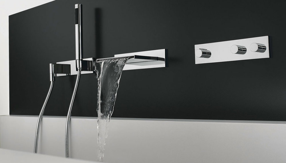 dornbracht contemporary wall mount tub filler and bath trim with handshower in polished chrome - the ultimate guide to luxury plumbing by the delight of design