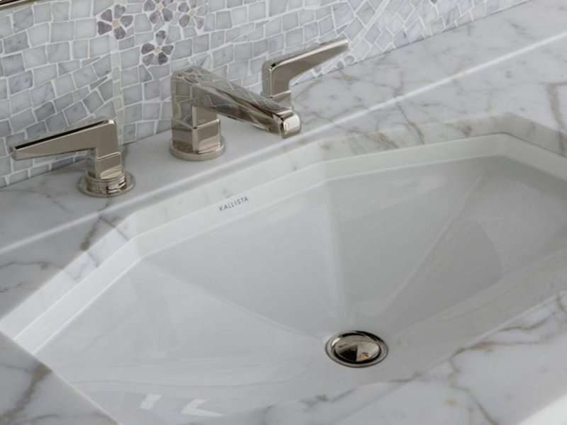 kallista jeton faucet in polished nickel and citizen sink - the ultimate guide to luxury plumbing by the delight of design
