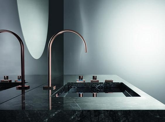 dornbracht contemporary faucet with remote valve in rose gold - the ultimate guide to luxury plumbing by the delight of design