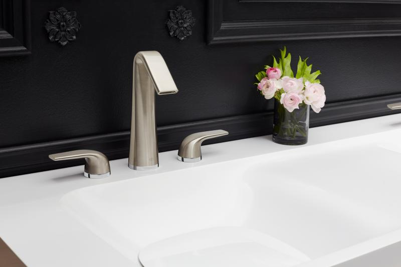 dxv contemporary widespread lav faucet with lever handles and tall spout in brushed nickel - the ultimate guide to luxury plumbing by the delight of design