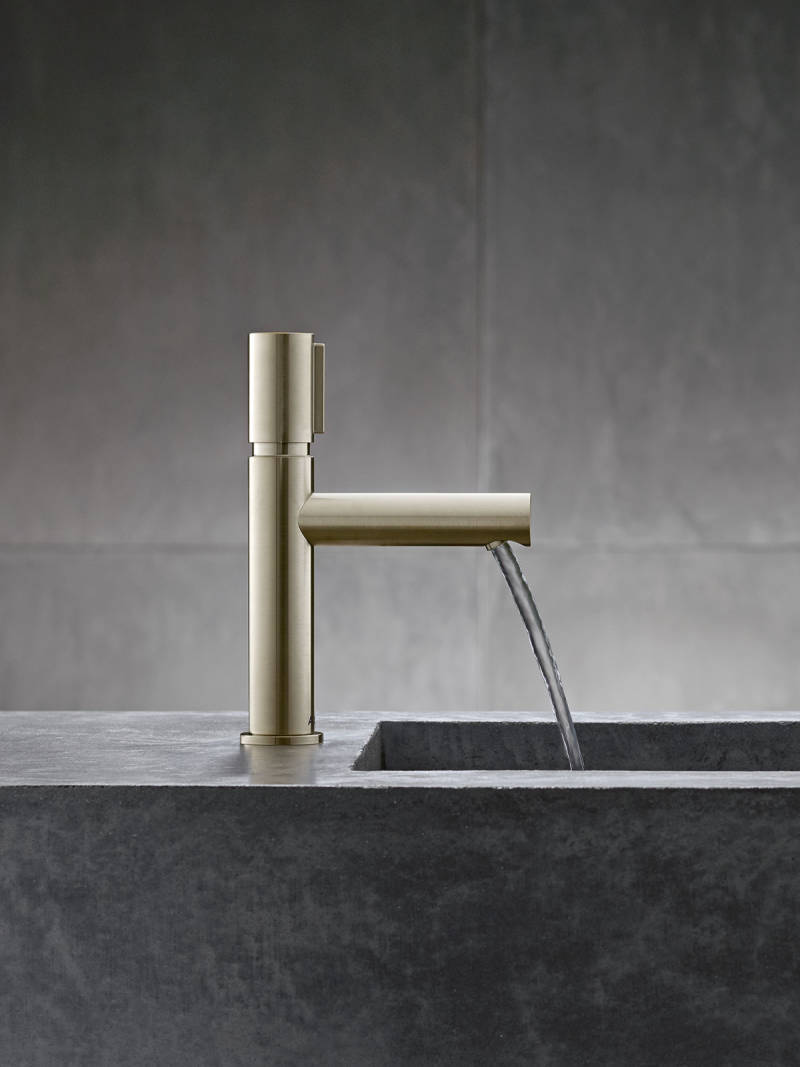 axor contemporary single hole lav faucet with top knob mixer in polished gold 90 degree spout - the ultimate guide to luxury plumbing by the delight of design