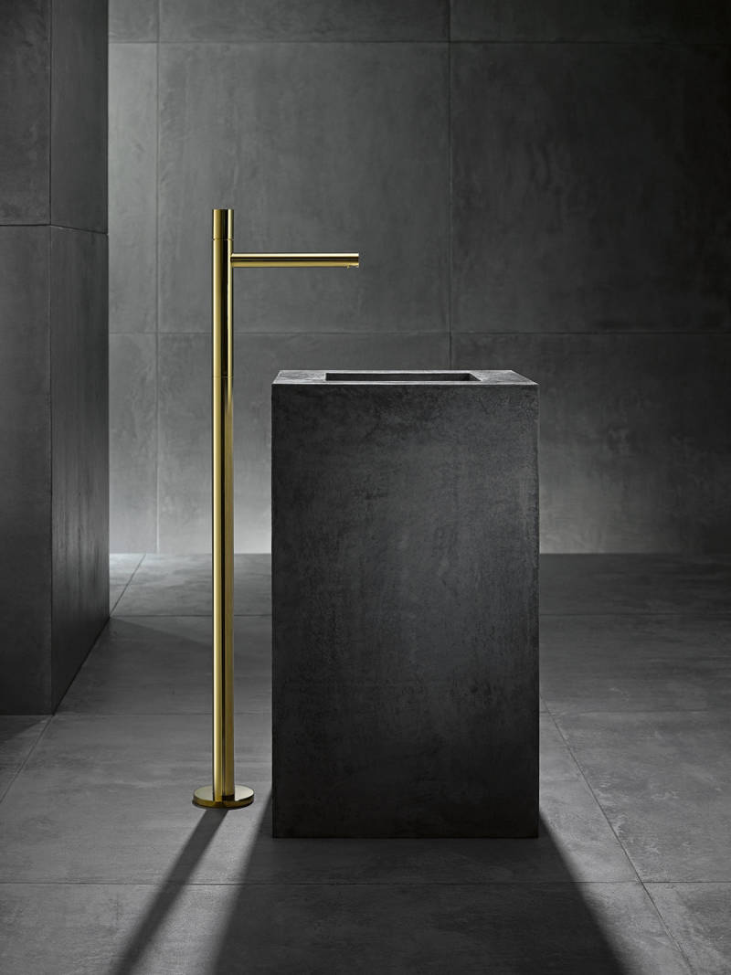 axor contemporary minimalist freestanding tub filler with 90 degree spout in polished gold - the ultimate guide to luxury plumbing by the delight of design