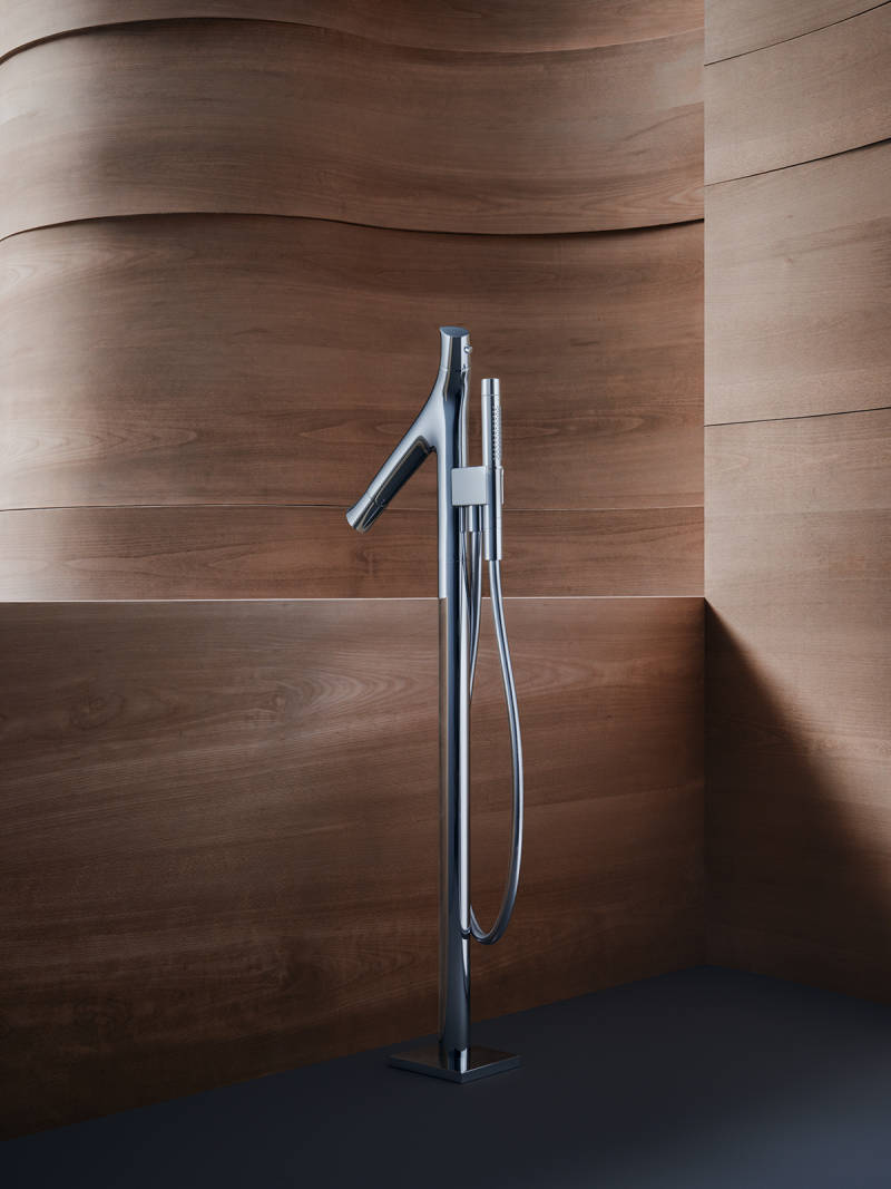 axor organic contemporary freestanding tub filler with handshower in polished chrome - the ultimate guide to luxury plumbing by the delight of design