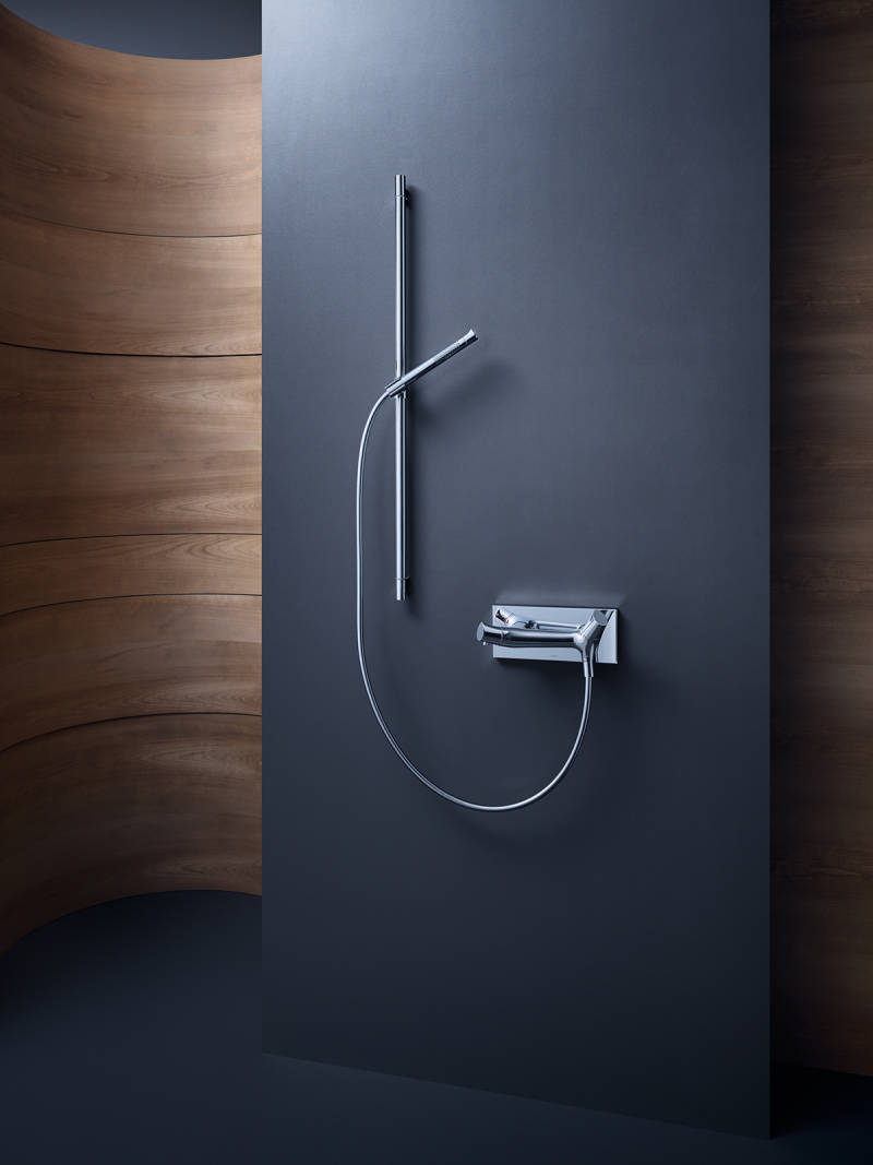 axor contemporary minimalist shower trim with handshower in polished chrome - the ultimate guide to luxury plumbing by the delight of design