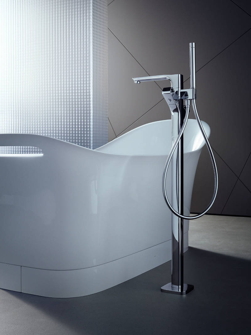 axor contemporary freestanding tub filler with handshower in polished chrome - the ultimate guide to luxury plumbing by the delight of design