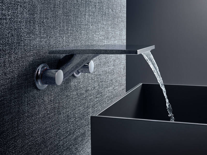 axor contemporary wall mount widespread lav with knob handles in polished chrome with waterfall spout - the ultimate guide to luxury plumbing by the delight of design