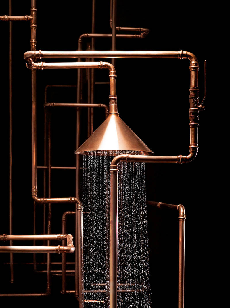 axor copper pipe rainhead - the ultimate guide to luxury plumbing by the delight of design
