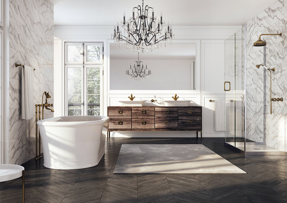 webert traditional bathroom suite in unlacquered brass - the ultimate guide to luxury plumbing by the delight of design