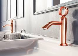 webert contemporary single hole lav faucet with top knob o-ring turn handle and curved spout in rose gold - the ultimate guide to luxury plumbing by the delight of design
