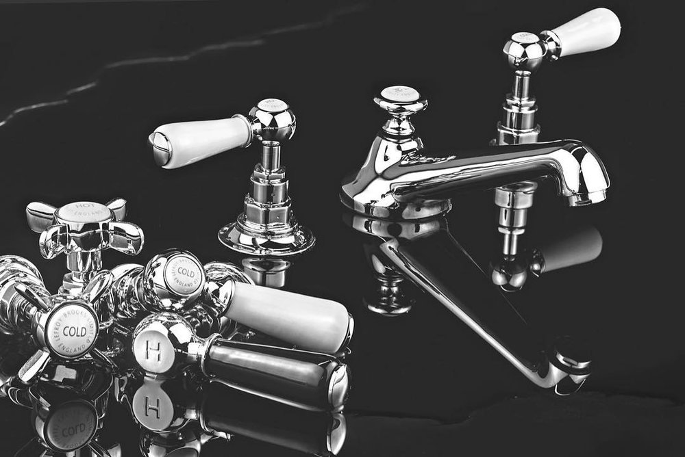 lefroy brooks traditional lav faucet with porcelain lever handles with low spout in polished chrome - the ultimate guide to luxury plumbing by the delight of design
