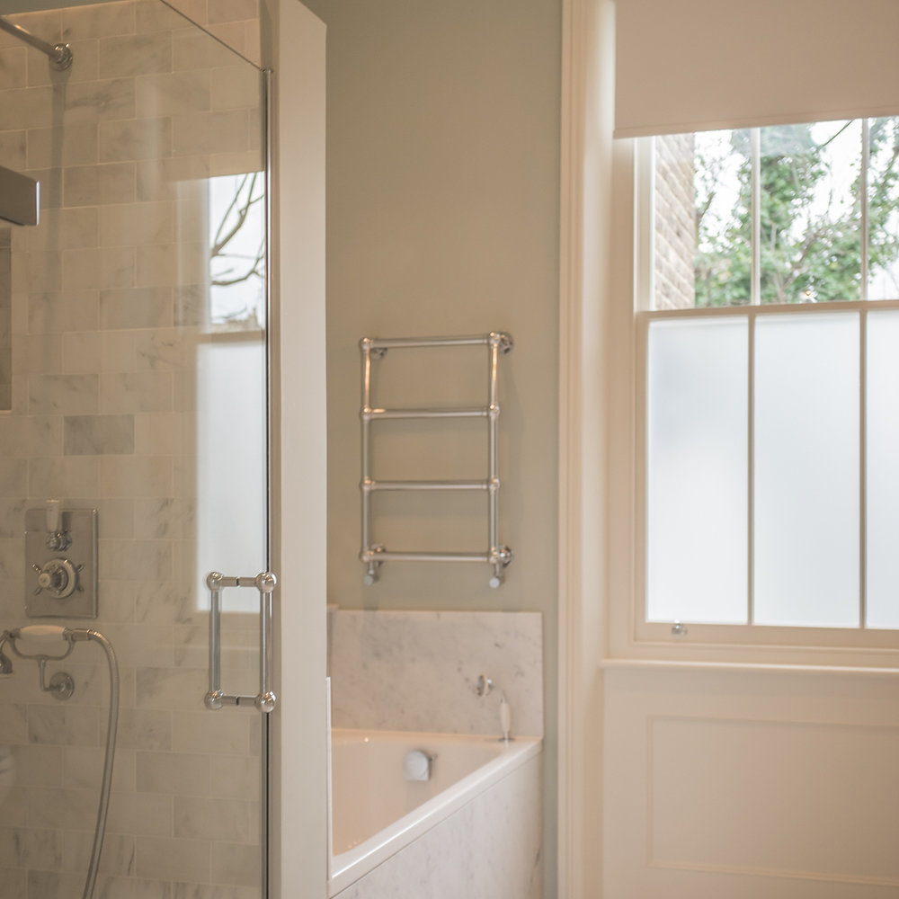 lefroy brooks traditional shower and bath trim in polished chrome with porcelain lever handles - the ultimate guide to luxury plumbing by the delight of design