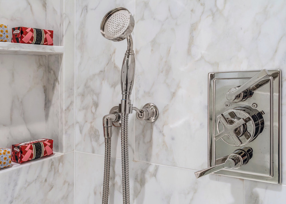 lefroy brooks deco thermostatic volume control shower trim and handshower with lever handles in polished nickel - the ultimate guide to luxury plumbing by the delight of design