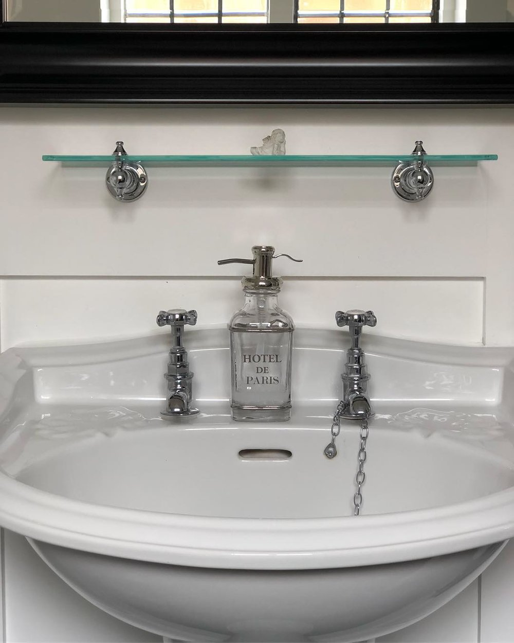 lefroy brooks traditional hot and cold bath taps with top cross handles and porcelain insets in polished chrome - the ultimate guide to luxury plumbing by the delight of design