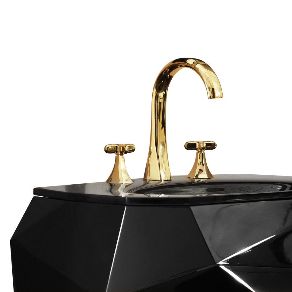 maison valentina contemporary organic widespread lav faucet with cross handles and gooseneck spout in polished gold - the ultimate guide to luxury plumbing by the delight of design