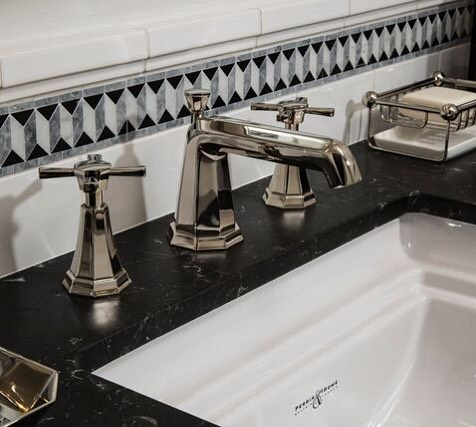 rohl deco widespread lav faucet with cross handles and low spout in polished nickel - the ultimate guide to luxury plumbing by the delight of design