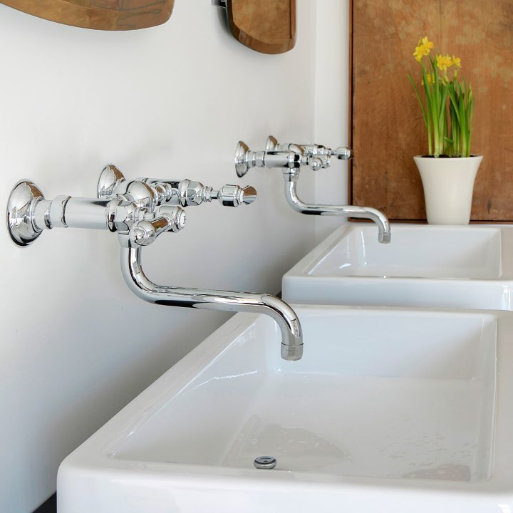 rohl dual wall mounted lav faucets with lever handles and curved spouts - the ultimate guide to luxury plumbing by the delight of design