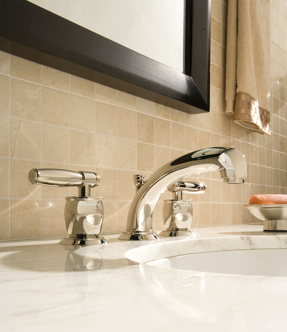 rohl deco widespread lav faucet with lever handles and medium spout in polished nickel - the ultimate guide to luxury plumbing by the delight of design