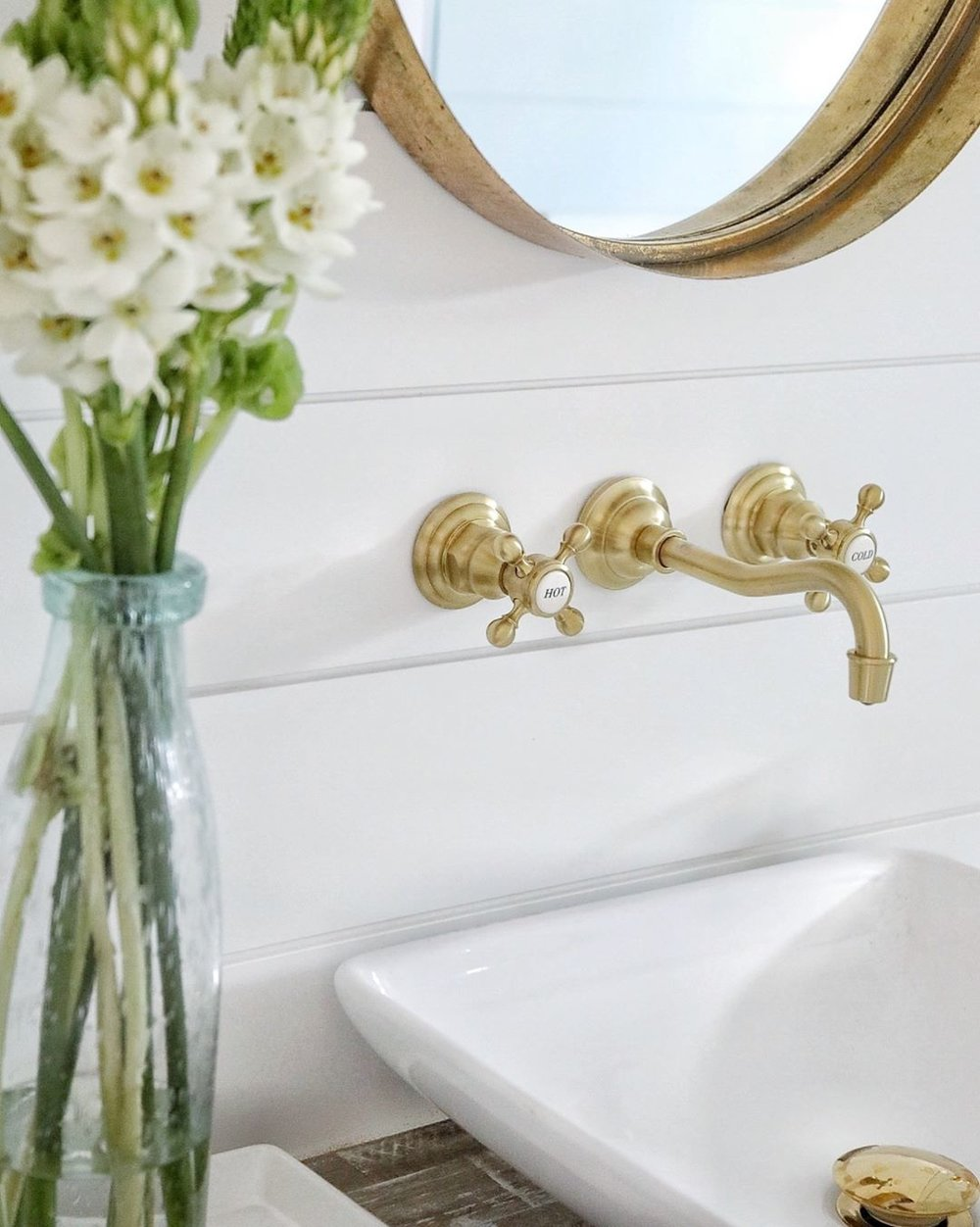 newport brass traditional wall mount widespread lav faucet with cross handles and gooseneck spout in brushed gold - the ultimate guide to luxury plumbing by the delight of design