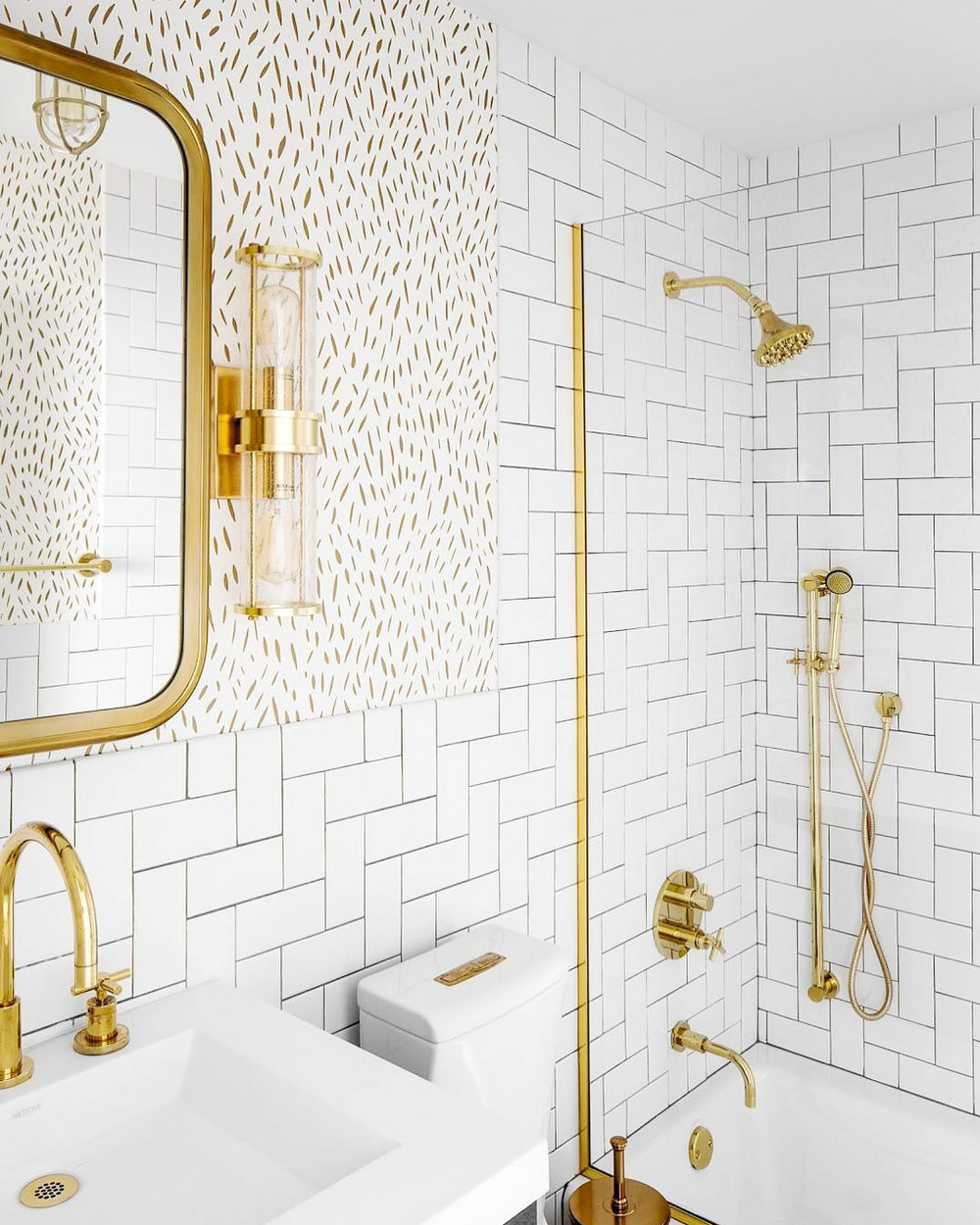 newport brass contemporary shower trim and widespread lav faucet with cross handles in polished gold - the ultimate guide to luxury plumbing by the delight of design