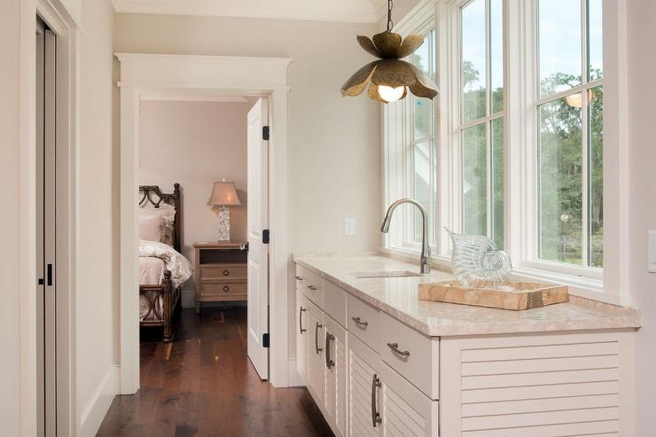 coffee bar in master suite