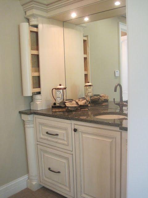 coffee bar in en suite master bathroom