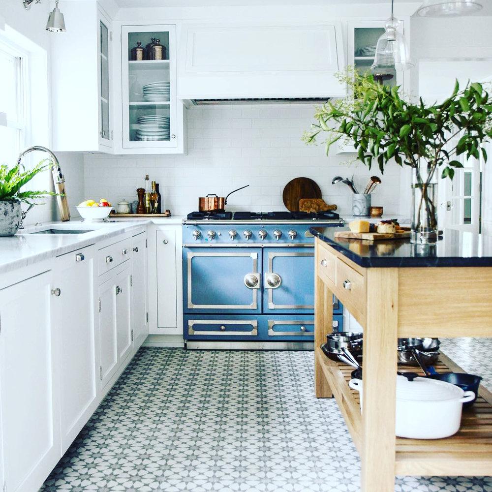 blue la cornue range oven