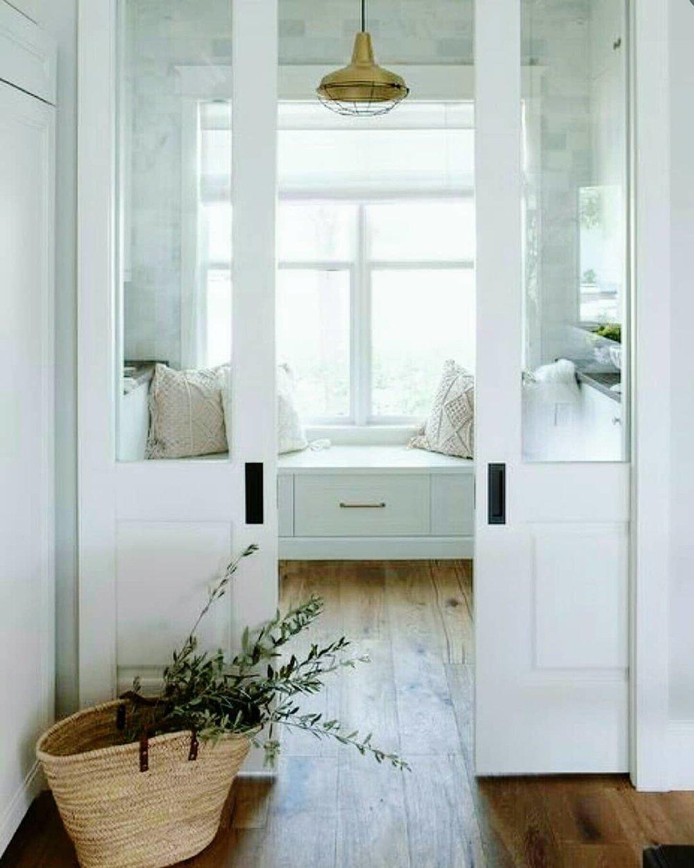 white french pocket doors half glass