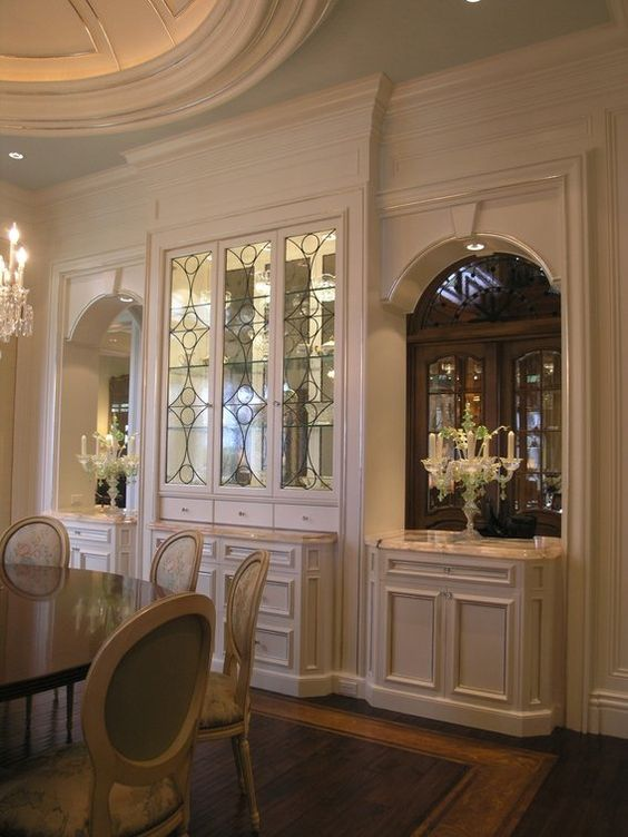 leaded glass white cabinet traditional