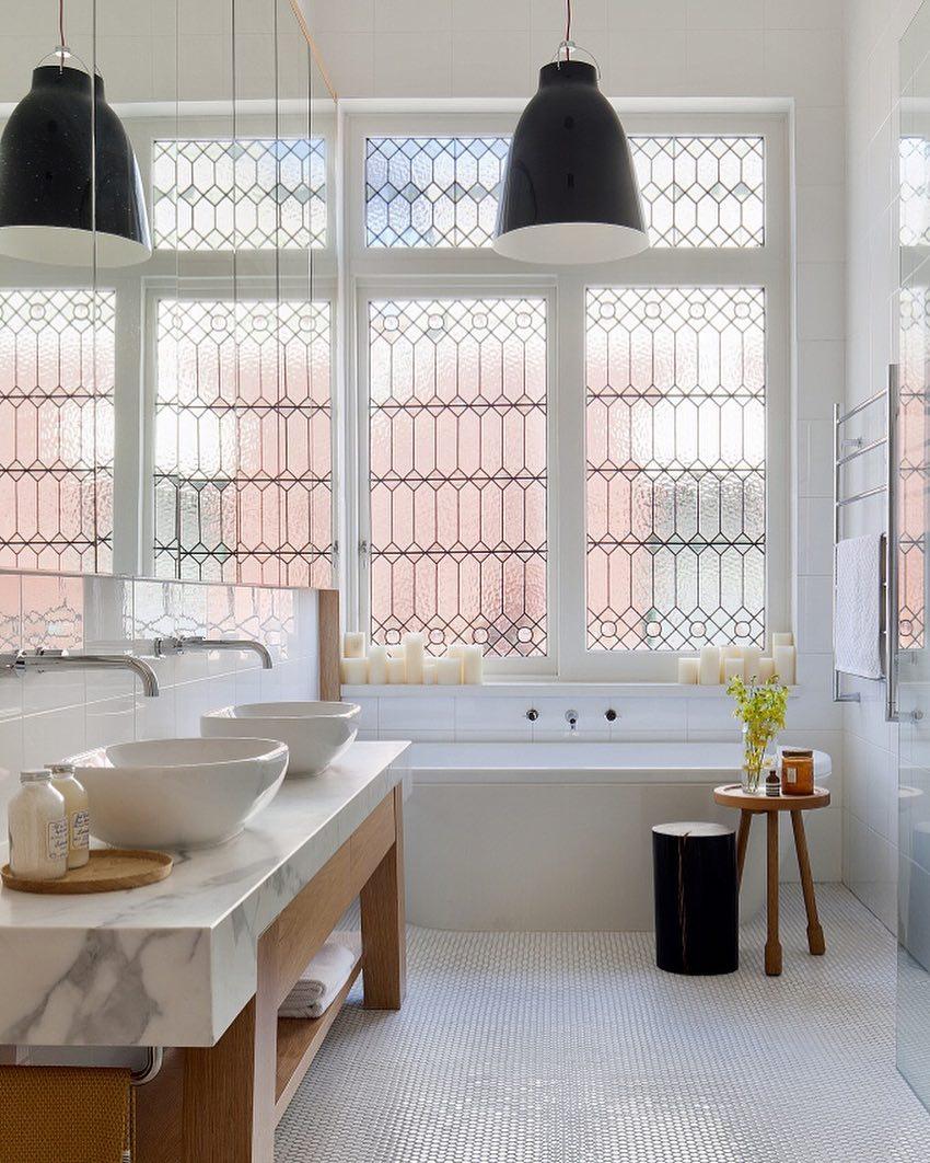 traditional leaded glass bathroom windows