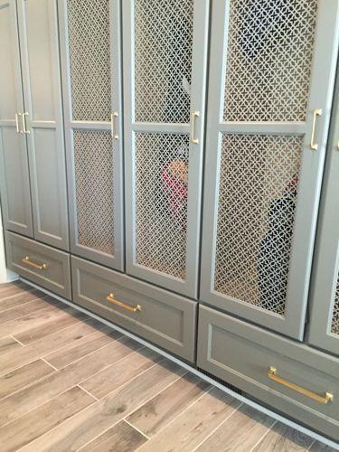 full overlay brass hardware cabinets metal mesh panel insert