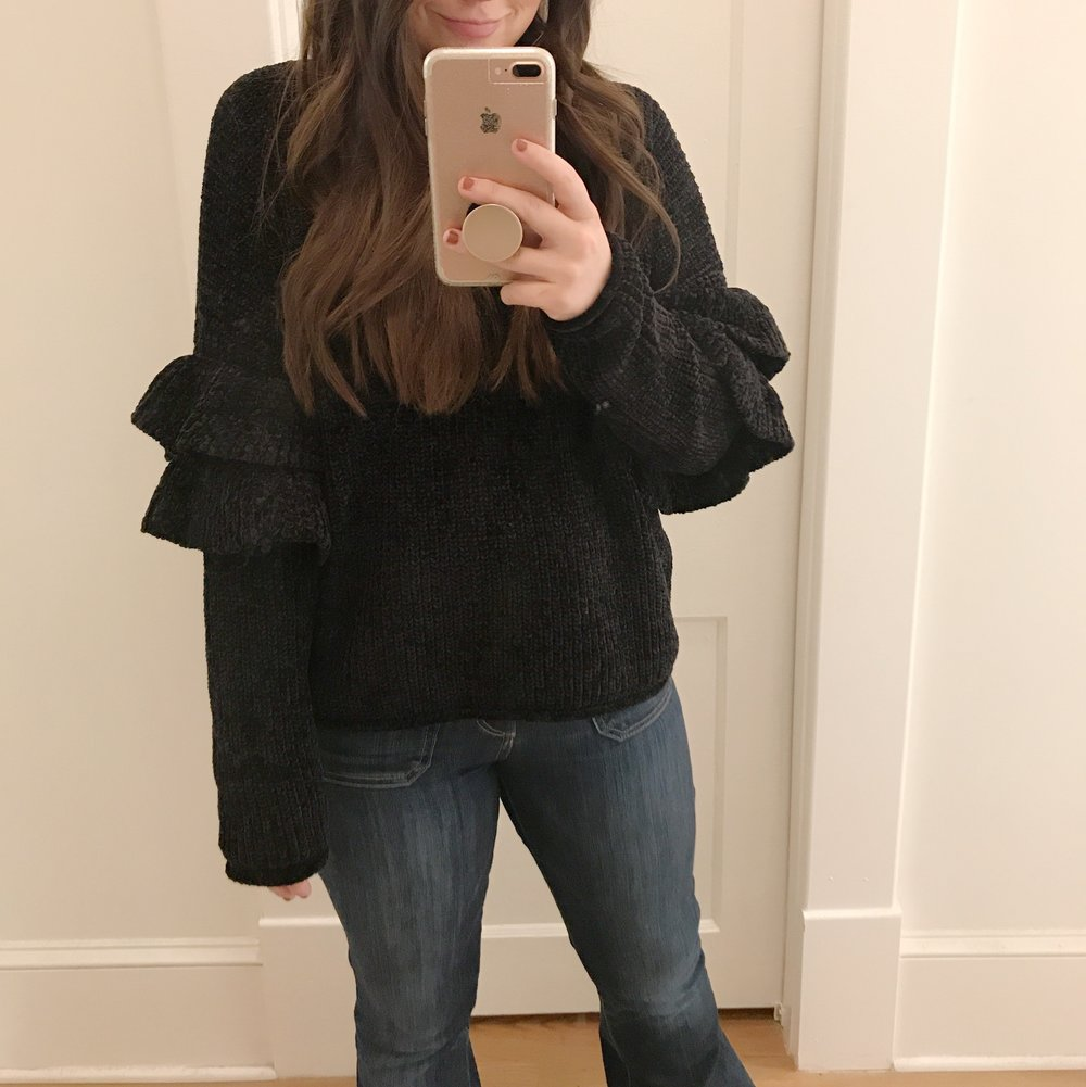 ruffle sweaters under 30