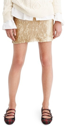 jcrew sequin skirt