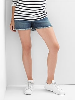 gap maternity denim shorts