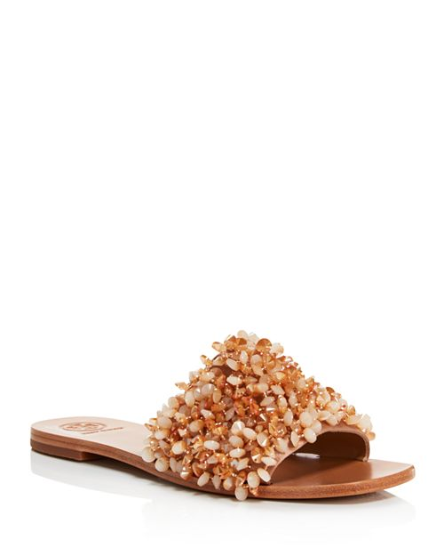 tory burch beaded slide