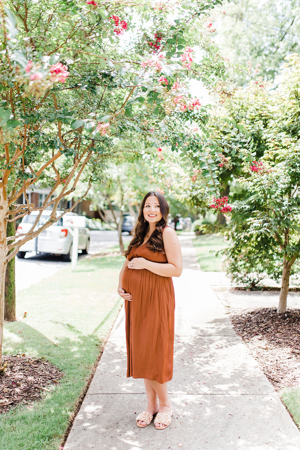 fall maternity dress