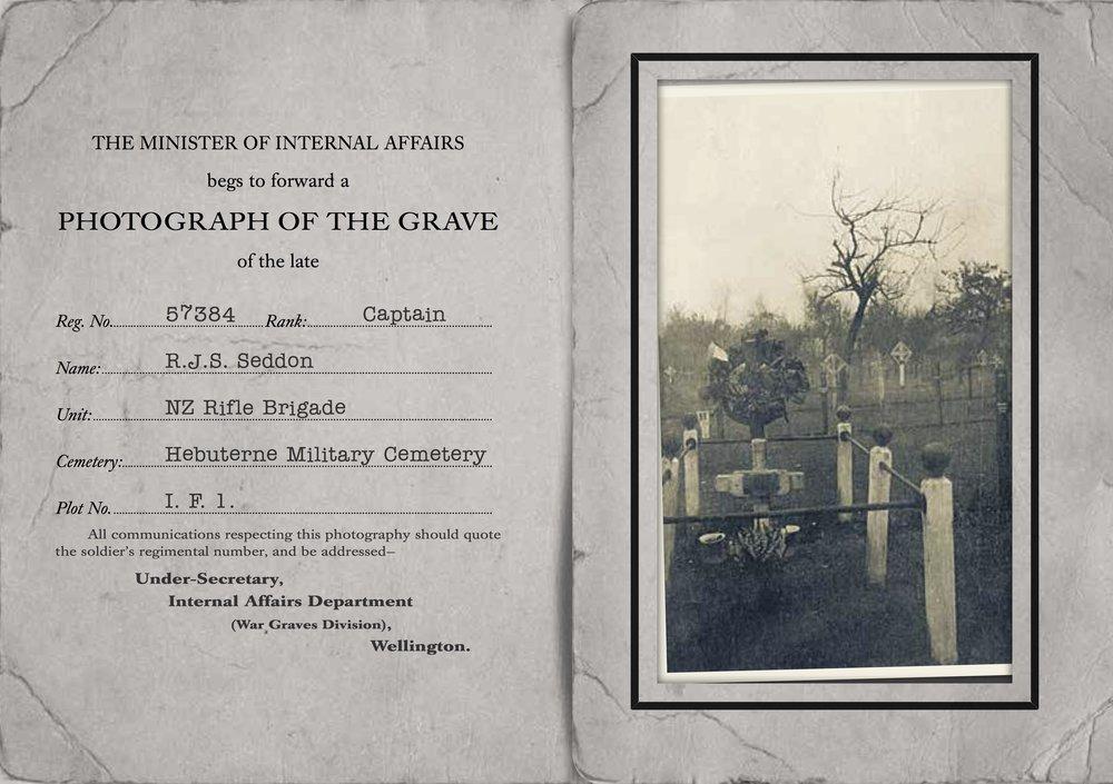 Seddon's Grave Card