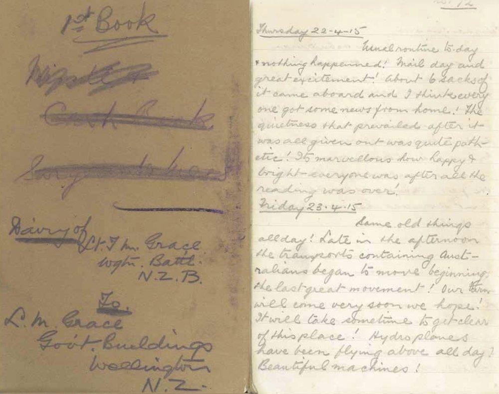 Hami's diary entry 23-25 April 1915