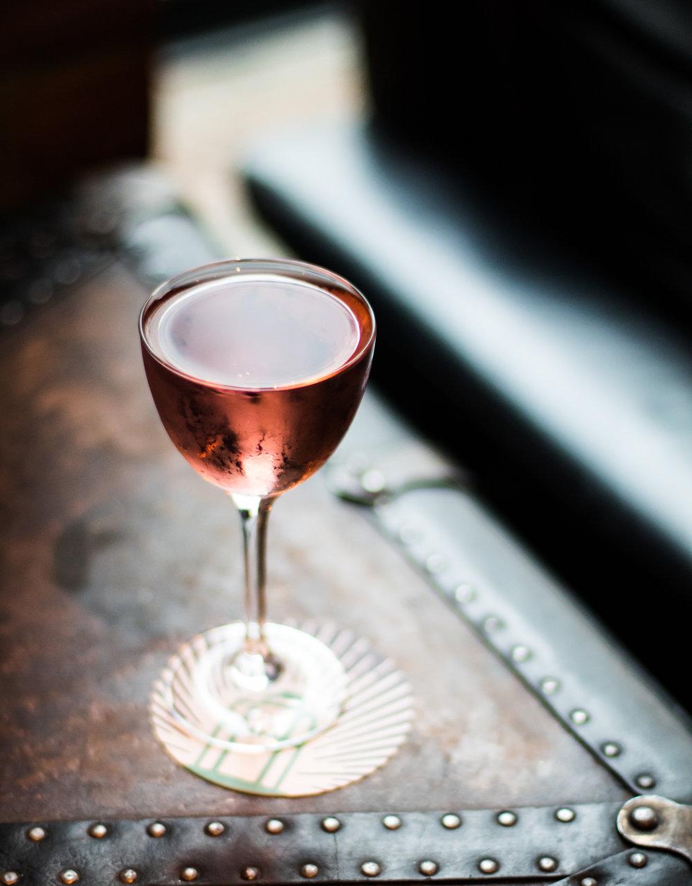 Porchlight's  Astoria Rosé  (a 50-50 Martini riff)