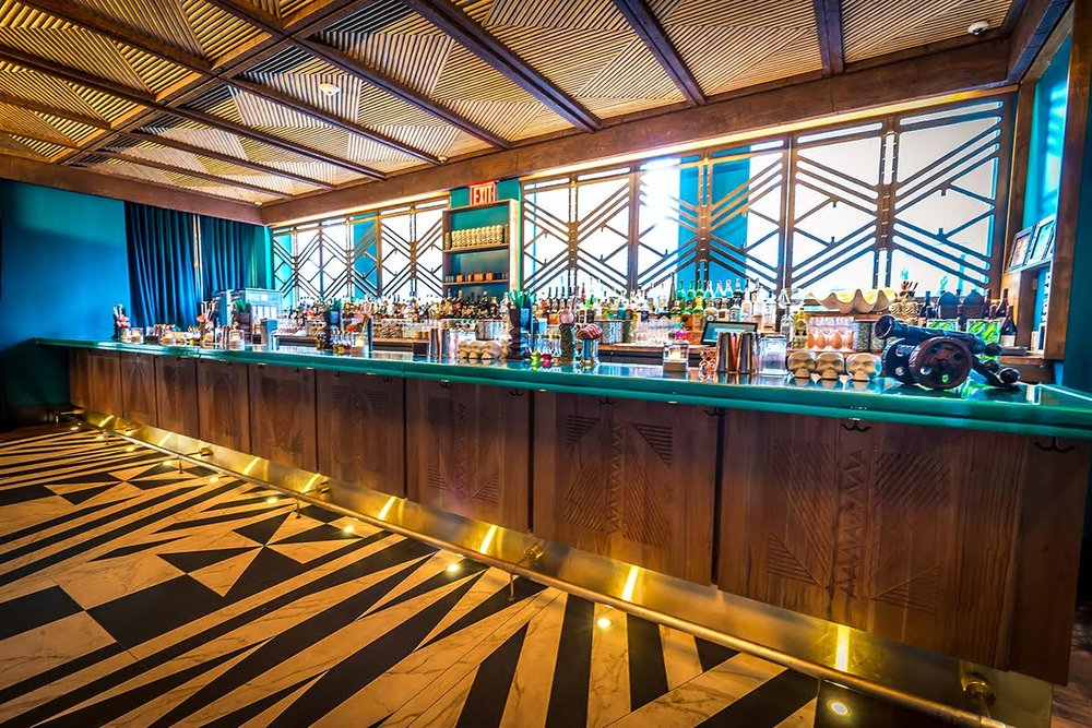 The indoor bar at The Polynesian