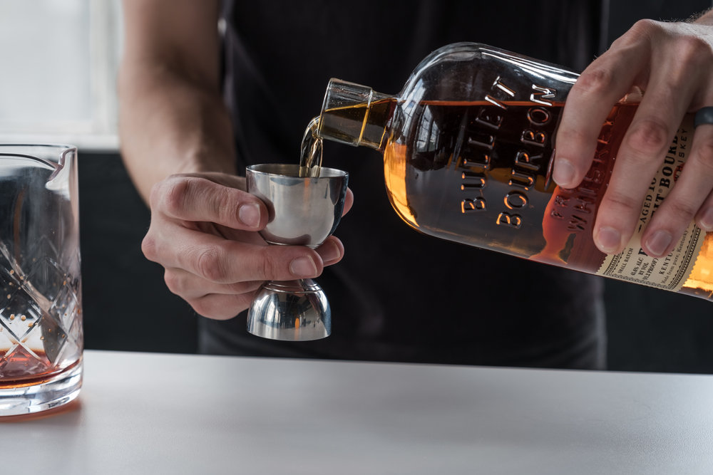 """""""Invite. People. Over,"""" Hughes says. """"Don't worry about becoming a master mixologist before you start making drinks for people. Your friends will be impressed that you're putting time and effort into making them something.""""    Credit   : Jordan Hughes"""