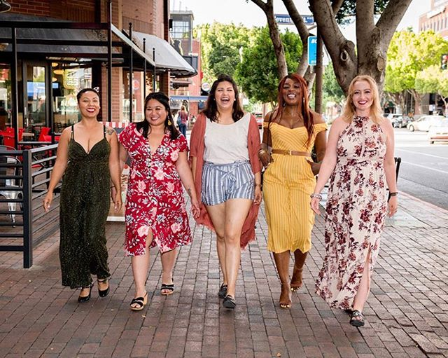 I had a wonderful time at @explorewithcassie's + @creations_boutique_tempe Spring Fling Fashion event last night! Our girl gang included the lovely bubbly @afiliketaffy, the earthy @cazoshay_marie and of course, the cool and casual @jasmineventuresaz. (We've recently been dubbed 'The Spice Girls' lol). The night included getting our hair braided by @hairbyheatherusher, eating delicious bbq by @papabearsbbqaz, and taking these amazing photos with  @kenbrownstudio. I hung out with @foodartandculture and @nutritionauthor and even ran into @tinaguenther11! What a fun night in Tempe, and a perfect way to keep swinging into Spring.  #ootd #springfling #springbreak #fashionbloggers #bloggerlife