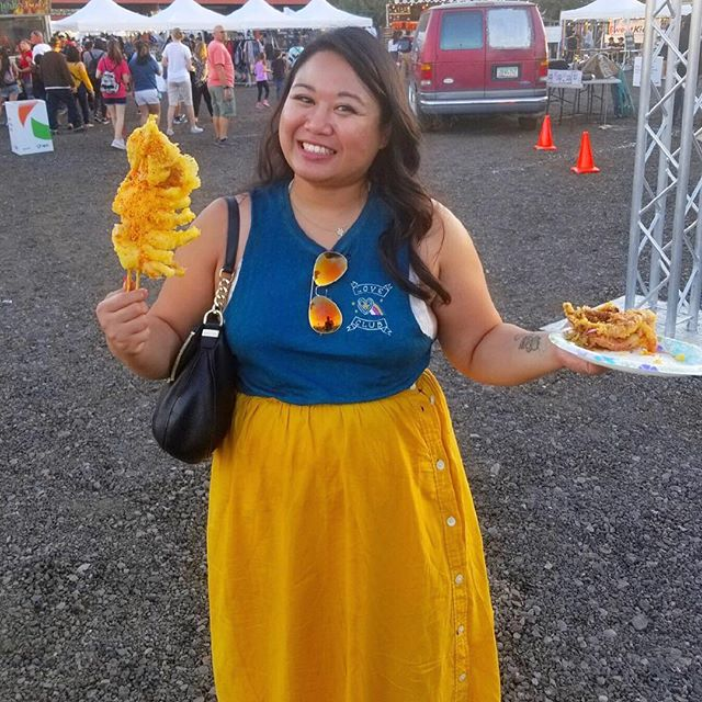 #TBT to last year's @PHxNightMarket when I got a fried squid as big as my face!! I'm not sure which foods I'm most excited for - takoyaki balls, bao buns, bubble waffles, lumpia?? Can I please have an extra stomach!? All the deets for this year's festival below: 🥢April 20 and 21, 6pm and 5pm respectively 🥢$25 in advance, $30 at the door 🥢Over 75+ vendors 🥢Beer gardens, music, live art, kids area  So who's coming?! #phxnightmarket #asianfood #asianpride #downtownphx