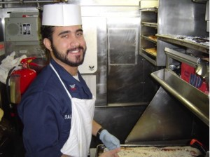 Making pies on a submarine in 2006