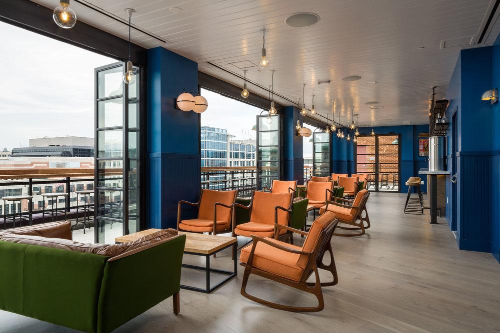 POD DC Crimson Rooftop Hospitality Photography