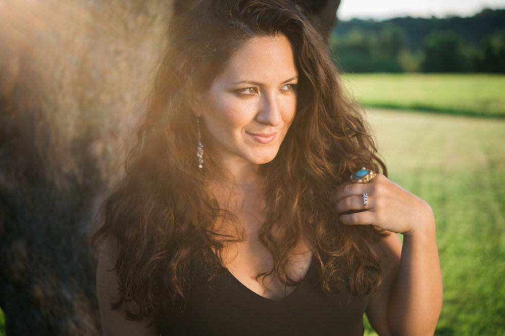 Litchfield, Connecticut Branding and Headshot Photographer Jazz Singer Nicole Zuraitis at Topsmead Sunset by Lindsey Victoria Photography